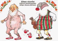 Bonecas de Papel: Papai Noel - the whole set