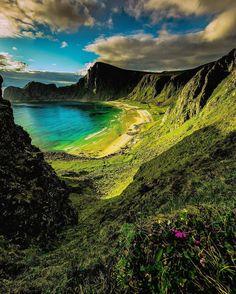 The hidden beach, Andoya, Norway.