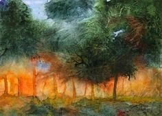 Winner of our competition to paint woodland trees and/or flora announced