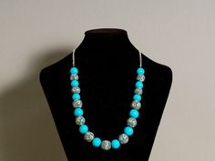 Check out our Shop at Dawanda.de ! Turquoise Necklace, Beaded Necklace, Vienna, Etsy, Shopping, Jewelry, Fashion, Chains, Neck Chain