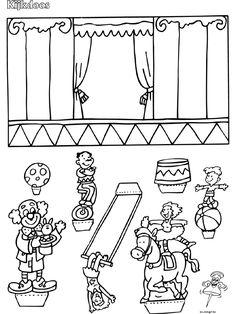 Circus - Kijkdoos - Knutselpagina.nl - manualidades, artesanías y manualidades de nuevo. Clown Crafts, Circus Crafts, Vbs Crafts, Diy Crafts For Kids, Preschool Circus, Circus Activities, Printable Activities For Kids, Circus Carnival Party, Circus Theme