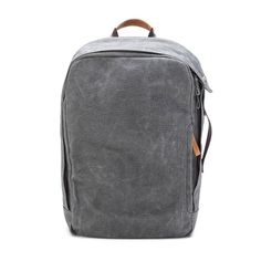 Washed Grey Backpack by Qwstion