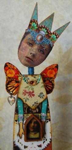 Altered Art Doll  Cherish by desertdreamstudios on Etsy