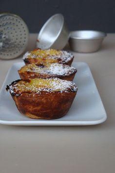 #Portuguese custard tarts - Pastéis de nata recette en français
