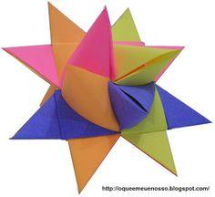 O QUE É MEU É NOSSO: Origami Tira de Papel (Paper Strip) - Estrela Alemã (German Star) - Estrela Natalina (Christmas Star) - Estrela da Morávia (Moravian Star) - Estrela de Froebel (Froebel Star) - Friedrich Froebel