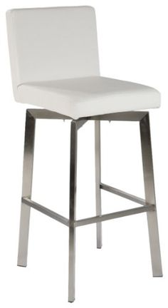 Amazon Com 2xhome Set Of Two 2 White 28 Quot Seat Height