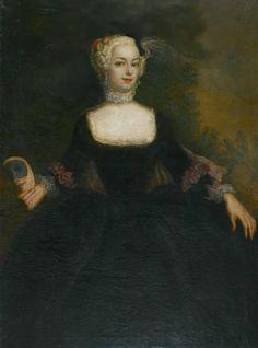 ca. 1740 Wilhelmine von Hessen-Kassel by circle of Antoine Pesne