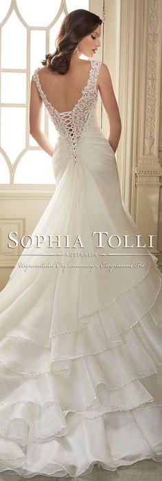 The Sophia Tolli Spring 2016 Wedding Dress Collection - Style No. Y11647 - Thema #organzaweddingdress