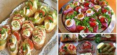 To je nápad! Slovak Recipes, Good Food, Yummy Food, Food 52, Party Snacks, Bruschetta, Vegetable Recipes, Bon Appetit, Sushi