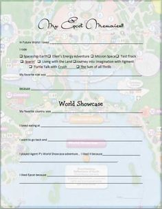 Make your own Disney Parks Memory Worksheets | free downloads