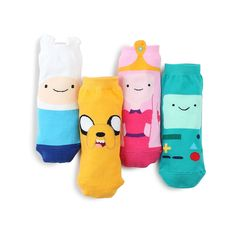 Finn and Jake Adventure Time Licensed Socks Pack of 4pairs CB14