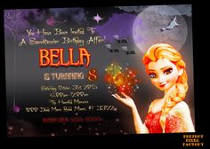 FROZEN HALLOWEEN INVITATION Birthday by PerfectPixelFactory