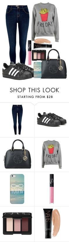 """""""Ideal Everyday"""" by mrs-thornton19 ❤ liked on Polyvore featuring River Island, adidas, GUESS, Adolescent Clothing, Casetify and NARS Cosmetics"""