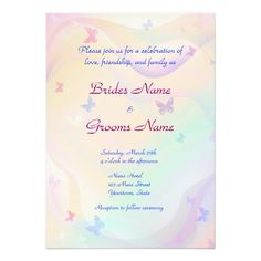 Summer  Butterflies Wedding Invitation
