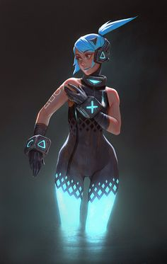 ArtStation - PS4 girl, Gui Guimaraes