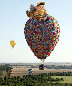 """Colorful Montgolfière, based on the film """" UP """""""