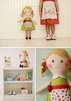 Most adorable handmade doll. I need it quick, before my girls outgrow dolls! :)