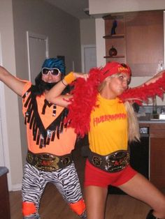 Macho Man Randy Savage and Hul is listed (or ranked) 32 on the list Clever and Creative Halloween Costume Ideas for Couples Meme Costume, Wwe Costumes, 80s Costume, Costume Ideas, Party Costumes, Deer Halloween Costumes, Couples Halloween, Halloween Fun, Halloween Sewing