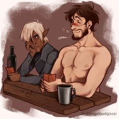 """soddingcloudgazer: """"Wicked Grace and alcohol is a bad combination when your name is Hawke """""""