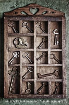 Trevillion Images - wooden-compartments-with-keys