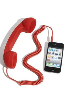iPhone Hotline - I have one of these and love it, makes talking on the cell phone easy peay and is so retro and funny at the same time