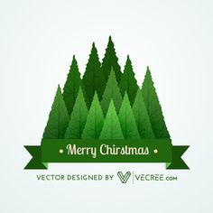 Christmas Green Tree Designs - Vecree.com on Behance