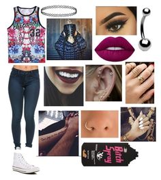"""Untitled #8"" by maddiecau99 ❤ liked on Polyvore featuring Bling Jewelry, Converse and Lime Crime"