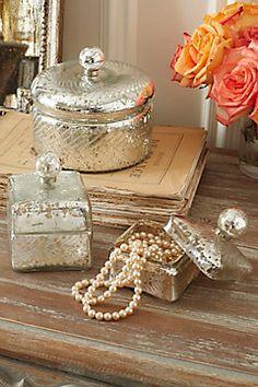 Antique Mercury Glass Boxes