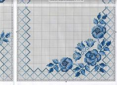 This Pin was discovered by Lau Cross Stitch Borders, Cross Stitch Rose, Cross Stitch Flowers, Cross Stitch Designs, Cross Stitching, Cross Stitch Patterns, Hardanger Embroidery, Cross Stitch Embroidery, Embroidery Patterns