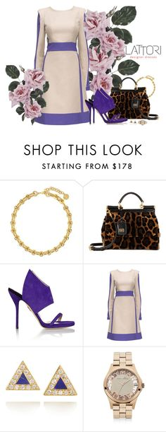 """""""12. Magical edges on a purple desert"""" by gabyidc ❤ liked on Polyvore featuring Louise et Cie, Dolce&Gabbana, Paul Andrew, Lattori, Jennifer Meyer Jewelry, Marc by Marc Jacobs and lattori"""