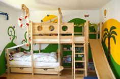 bunk bed with a slide!
