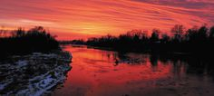 Winter sunset over the Snake River. Winter Sunset, Outdoor Photography, Idaho, Snake, Community, Journal, River, Celestial, Photos