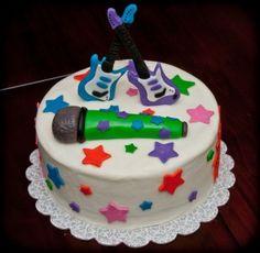 Rock Star Cake 9th Birthday Parties, 5th Birthday, Birthday Ideas, Rock Star Cakes, Karaoke Party, Jamberry, Cake Pops, Cake Ideas, Cake Decorating