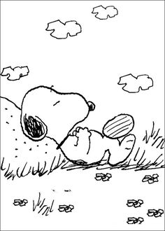 snoopy coloring pages - Snoopy Pictures To Color