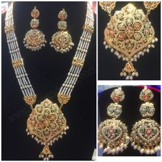 Buy online punjabi traditional women wedding jewelry from Vijay&Sons in overall India. Order Now ! Choker Necklace Online, Necklace Set, Gold Necklace, Royal Look, Traditional Fashion, Wedding Jewelry, Ethnic, Chokers