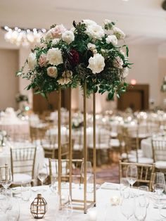 Elevated floral centerpiece with lush greenery, garden roses, and dahlias // Southeastern Wedding Florist Dahlia Centerpiece, Floral Centerpieces, Wedding Centerpieces, Wedding Decorations, Table Decorations, Champagne Wedding Colors, Floral Wedding, Destination Wedding, Wedding Planning