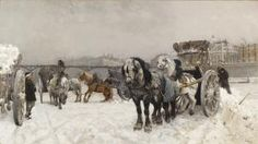 Snow removal Photo by Bosc d'Anjou 'Dumping Snow into the Seine' ~ A monumental oil painting by Christian Skredvsvig In the collection of the Bergen Art Museum, Norway . via mahala Nordic Art, Scandinavian Art, Norwegian People, Lillehammer, North Europe, Canadian Art, Historical Art, Art Museum, Norway
