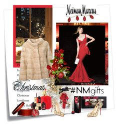 """The Holiday Wish List With Neiman Marcus: Contest Entry"" by carola-corana ❤ liked on Polyvore featuring Post-It, Yves Saint Laurent, LISKA, Neiman Marcus, Smith & Cult, Soffieria de Carlini, Christian Louboutin, La Petite Robe di Chiara Boni and NMgifts"