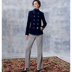Buy Vogue Women's Jacket And Trousers Sewing Pattern, 1467 Online at johnlewis.com