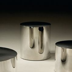 """Stainless Steel Drum Table, 22"""" Dia."""