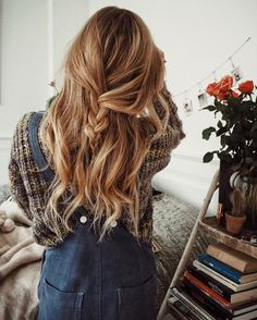 pretty hairstyles ~ Hair Beauty , hairstyles for medium length hair Everyday Hairstyles, Pretty Hairstyles, Braided Hairstyles, Updo Hairstyle, Hairstyle Ideas, Casual Hairstyles, Braided Updo, Wedding Hairstyles, Latest Hairstyles