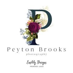 I really like the Idea of either OG or an O with this sort of floral work. Monogram Logo, Initial Logo, Business Card Logo, Business Card Design, Logo Inspiration, Flower Logo, Logo Floral, Typo Logo Design, Minimal Graphic Design