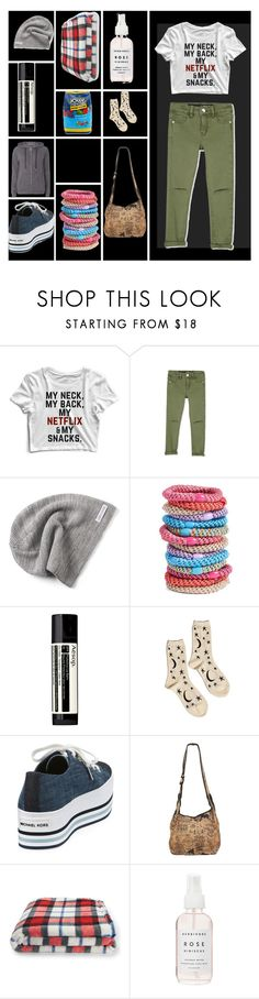 """""""Like a G6"""" by missmygreenhair ❤ liked on Polyvore featuring Converse, L. Erickson, Aesop, Hansel from Basel, MICHAEL Michael Kors, Aéropostale, Hard Candy, Herbivore and Dorothy Perkins"""