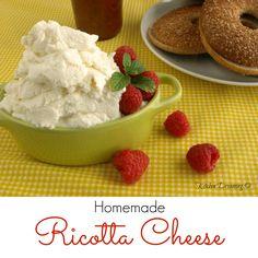 Homemade Fresh Ricotta Cheese