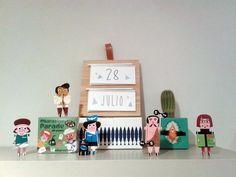 TIC TAC TIC TAC, en verdejade cada vez queda menos para irnos de vacaciones.  Calendario de madera de Miolos Design, personajes de Ingela P. Arrhenius y cáctus de Damián Quiroga. http://instagram.com/p/rAMKeSJ4wh/?modal=true