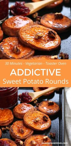 Sweet potato slices seasoned with coconut oil, salt and cinnamon then roasted to caramelized perfection. Better make two batches, you won't want to share!