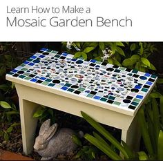 I am so impressed by this beautiful bench from the O'Niel Sisters. It's a fun project and will contribute a beautiful snippet of brightness to that backyard!