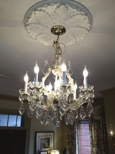 Crystal chandeliers from Shelbyville