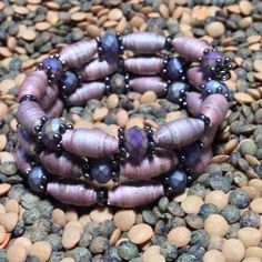 Love the weathered look of these paper beads.
