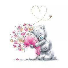 "❤ Tatty Teddy Bear ~ ""Hearts And Love"" ❤ Tatty Teddy, Teddy Pictures, Cute Pictures, Teddy Images, Blue Nose Friends, Bear Illustration, Love Bear, Cute Teddy Bears, Bear Toy"